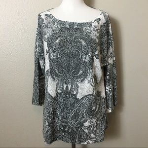 Chicos Floral Blouse, top, shirt, tunic tee